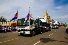 Den Cambodja självständighetsdagen Royal Palace försilvrar pagoden Royaltyfri Bild