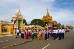 Den Cambodja självständighetsdagen Royal Palace försilvrar pagoden Royaltyfria Bilder