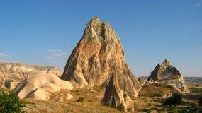 Den Cappadocia fen Chimneysvaggar formationnärliggande Goreme i Turkiet Arkivbilder