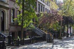 Den Carrie Bradshawâ €™slägenheten från könsbestämmer och staden, New York Royaltyfria Foton