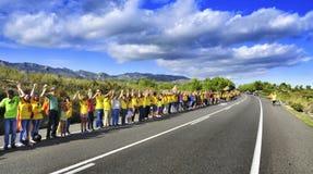 Den Catalan vägen, i Ametlla de Fördärva, Catalonia, Spanien Royaltyfri Bild