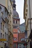 Den catedral Riga kupolen Arkivfoto