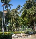 Den Catete slottträdgården, den tidigare presidentpalatset inhyser nu republikmuseet - Rio de Janeiro, Brasilien fotografering för bildbyråer