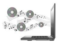 den cd bärbar dator bemärker vektorn Royaltyfri Bild
