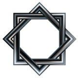 den celtic interlocking modellen squares stjärna två Royaltyfri Fotografi