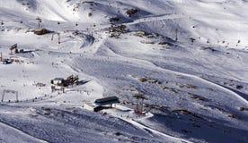 den center glaciären skidar Arkivbilder