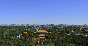 Den centrala axeln av Peking Royaltyfria Bilder
