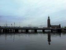 Den centrala bron, Stockholm Royaltyfri Foto
