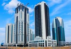 Den centrala delen av staden av Grozny Arkivbild