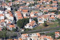 Den centrala delen av staden av Machico arkivbilder