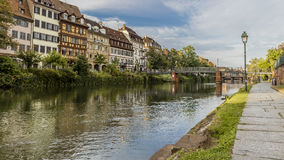 Den centrala delen av Strasbourg Royaltyfria Foton