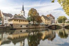 Den centrala delen av Strasbourg Arkivbilder