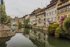 Den centrala delen av Strasbourg Arkivfoton
