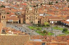 Den centrala fyrkanten i Cuzco. Royaltyfria Foton