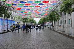 Den centrala gatan Royaltyfri Bild