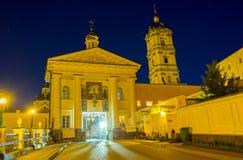 Den centrala ingången av Pochev Lavra arkivfoton