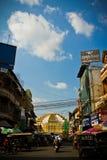 Den centrala marknaden i Phnom Phen, Cambodja Arkivbilder