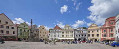 den cesky tjeckiska krumlovrepubliken square svornosti Royaltyfri Bild