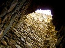 Den Cetatea neamtuluien vaggar fortfästningen moldova Royaltyfri Fotografi