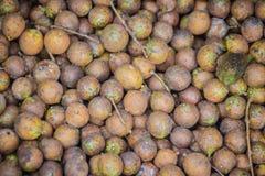 Den Ceylon eken bär frukt, eller Kusum bär frukt (den Schleichera oleosaen) till salu på den lokala marknaden Den Schleichera ole Royaltyfria Bilder