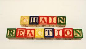 Den chain reaktionen för uttryck Arkivfoton