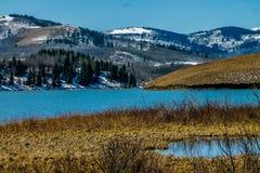 Den Chain sjön, provinsiella Chain sjöar parkerar, Alberta, Kanada Royaltyfri Bild