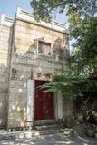 Den Chaodou plattformen för att tillbe skopan i den Chunyang templet royaltyfria bilder
