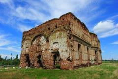 Den Chiajna kloster fördärvar nära Bucharest arkivbilder