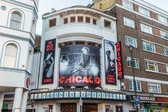 Den Chicago leken och teatern i london royaltyfria foton