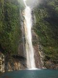 Den Chindama vattenfallet som lokaliseras i Limon, Costa Rica Lacatarata Chindama Fotografering för Bildbyråer