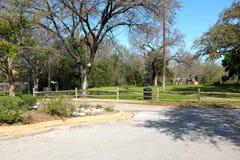 Den Chisholm slingan parkerar i runda vaggar Texas Arkivbilder