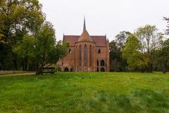 Den Chorin abbotskloster är den tidigare Cistercian abbotskloster nära byn av Chorin i Brandenburg, Tyskland Fotografering för Bildbyråer