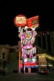 Den cirkuscirkushotellet och kasinot suckar på natten, Reno, Nevada Arkivfoto