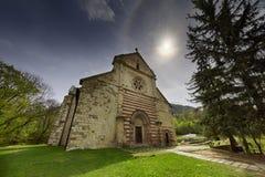 Den Cistercian abbotskloster i Belapatfalva Arkivbild