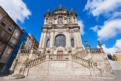 Den Clerigos kyrkan royaltyfri bild