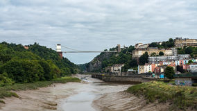 Den Clifton upphängningbron, gränsmärket av staden av Bristol Fotografering för Bildbyråer