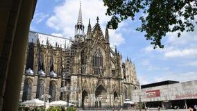 Den Cologne domkyrkan är en Roman Catholic Gothic domkyrka i th Arkivbilder