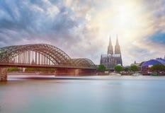 Den Cologne domkyrkan royaltyfri fotografi