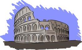 Den Colosseum vektorn skissar Arkivfoton