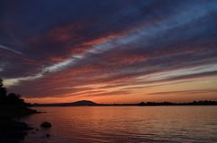 Den Columbia River drömmen Skye, Columbia parkerar, Kennewick, Washington State Royaltyfria Bilder