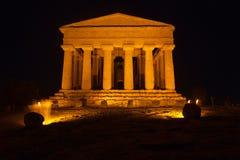Den Concordia templet i arkeologiska Agrigento parkerar Arkivfoton