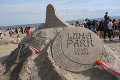 Den Coney Island sanden som 2014 hugger strid 59 Royaltyfria Foton