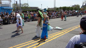 Den Coney Island sjöjungfrun 2013 ståtar 17 Arkivfoto