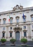 Den Consulta slotten i Rome royaltyfri fotografi