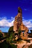 Den Corfe slotten fördärvar i Dorset royaltyfri foto