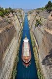 Den Corinth kanalen Fotografering för Bildbyråer