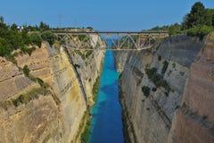 Den Corinth kanalen - Grekland Royaltyfri Fotografi