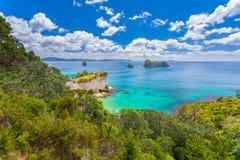 Den Coromandel halvön på den norr ön av Nya Zeeland Royaltyfri Fotografi