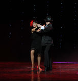 Den cowboydans-adagio- Österrike dansen för värld arkivbilder