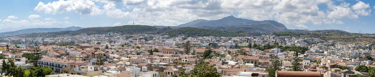 Den crete staden Rethymno royaltyfri bild